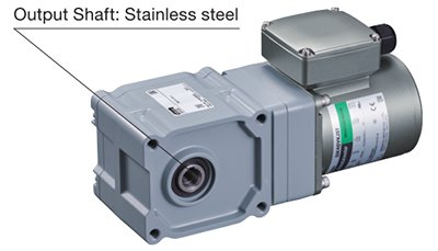 Right-Angle Hypoid Gear with Stainless Steel Shaft