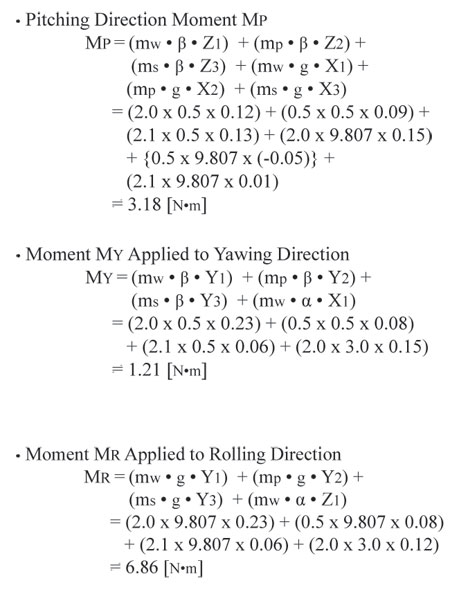 Moment Direction Equations